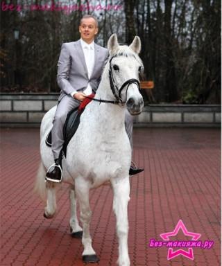 Сергей Дзебань на свадебном коне