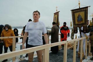 Сегодня в Петропавловке прошли праздничные мероприятия, посвященные Крещению Господню